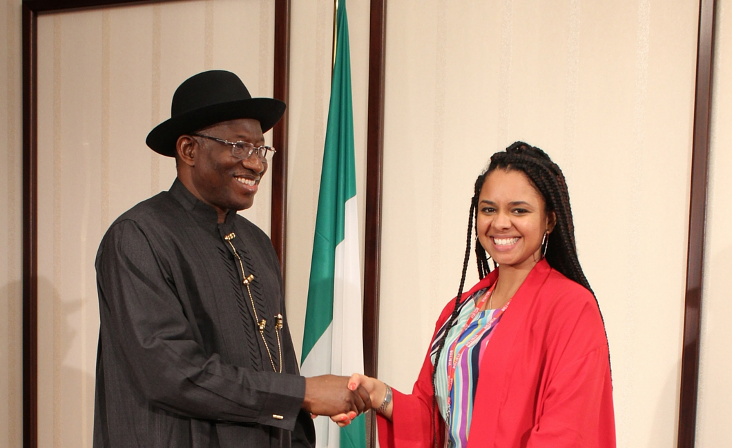 Twenty Ten Talent - Susan Younis and President Goodluck Jonathan