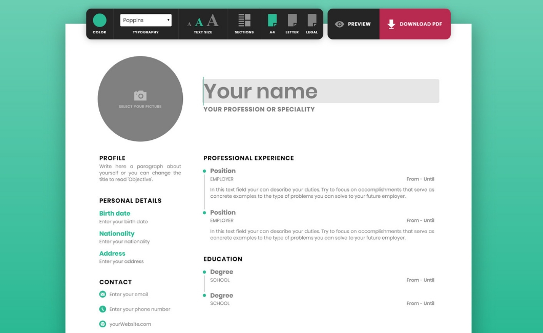 create a striking resume for free courtesy of resumemaker online